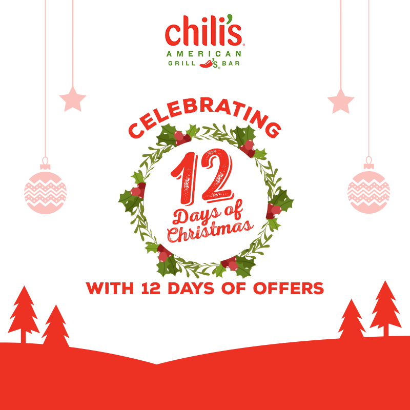 Celebrating 12 days of Christmas at Chili's West & South India ...